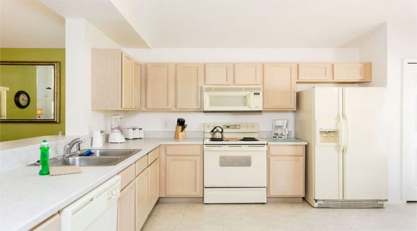 Homes, Townhomes, and Villas with fully equipped kitchen
